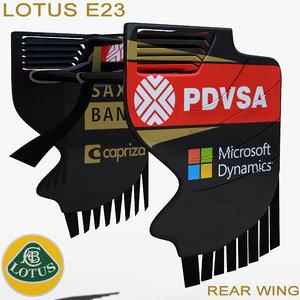3dsmax rear wing e23