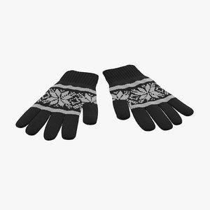 3d model gloves 03