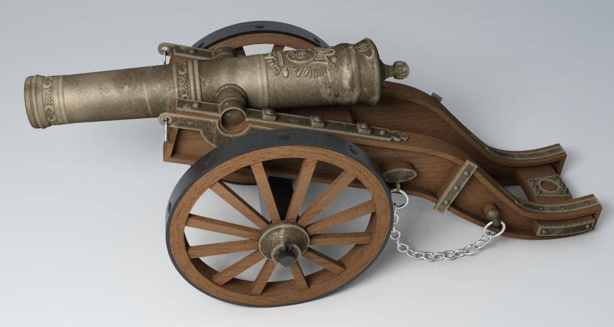 old cannon 3d model