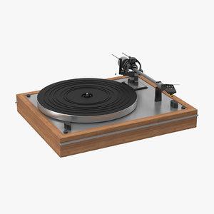 3d model vintage turntable