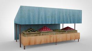 bazaar fruits 3d model