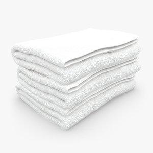 3d towel fold white model