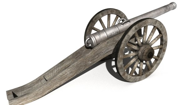 3d model of old cannon