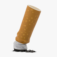 3d snuffed cigarette