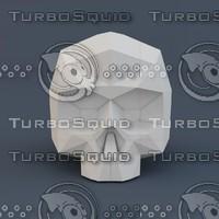 lo skull 3d model