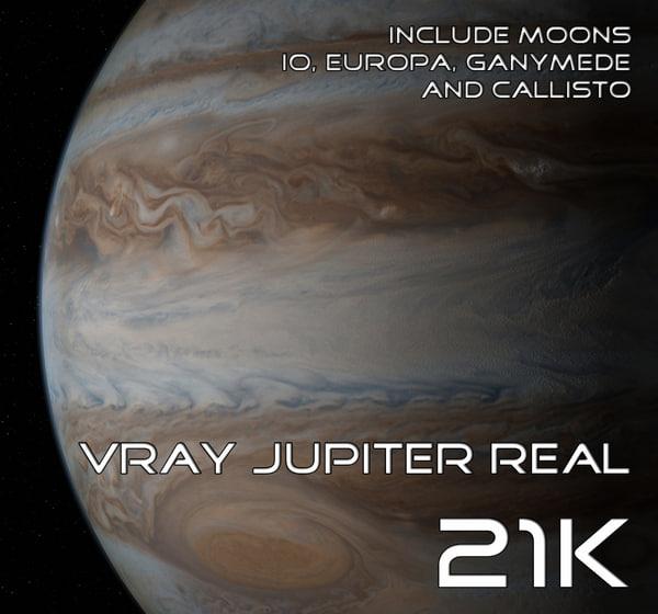 jupiter real 3d model