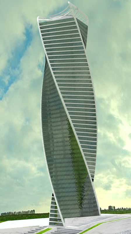 3d evolution tower skyscraper