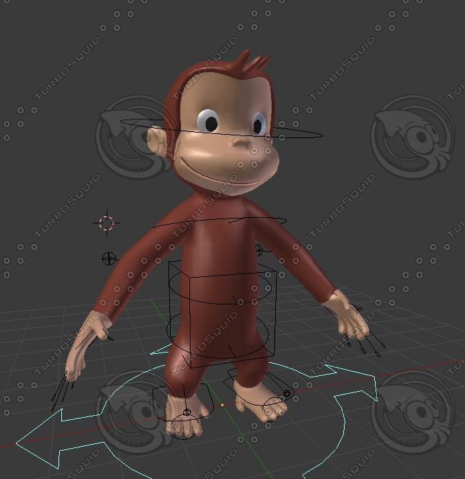 3d model monkey curious george