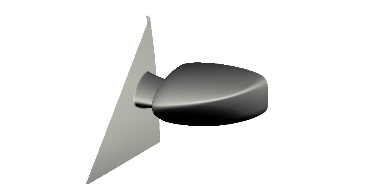 generic car mirror 3d model