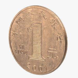 max 1 yuan china coin