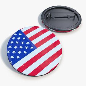 badge united states 3d max