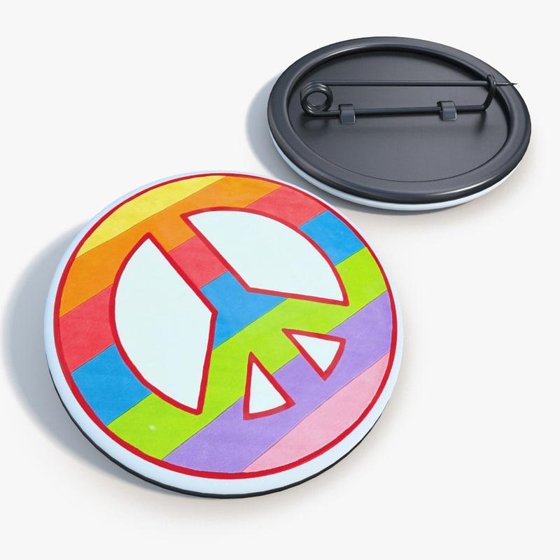 max badge peace love