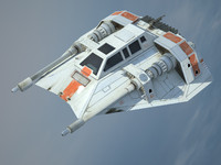 star wars t-47 airspeeder 3d model