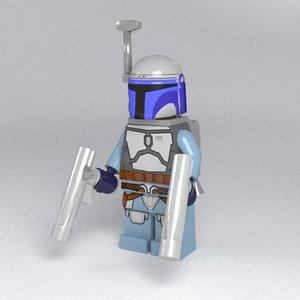 3d fett lego