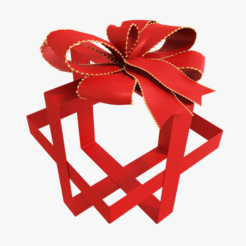 3d model red bow 05