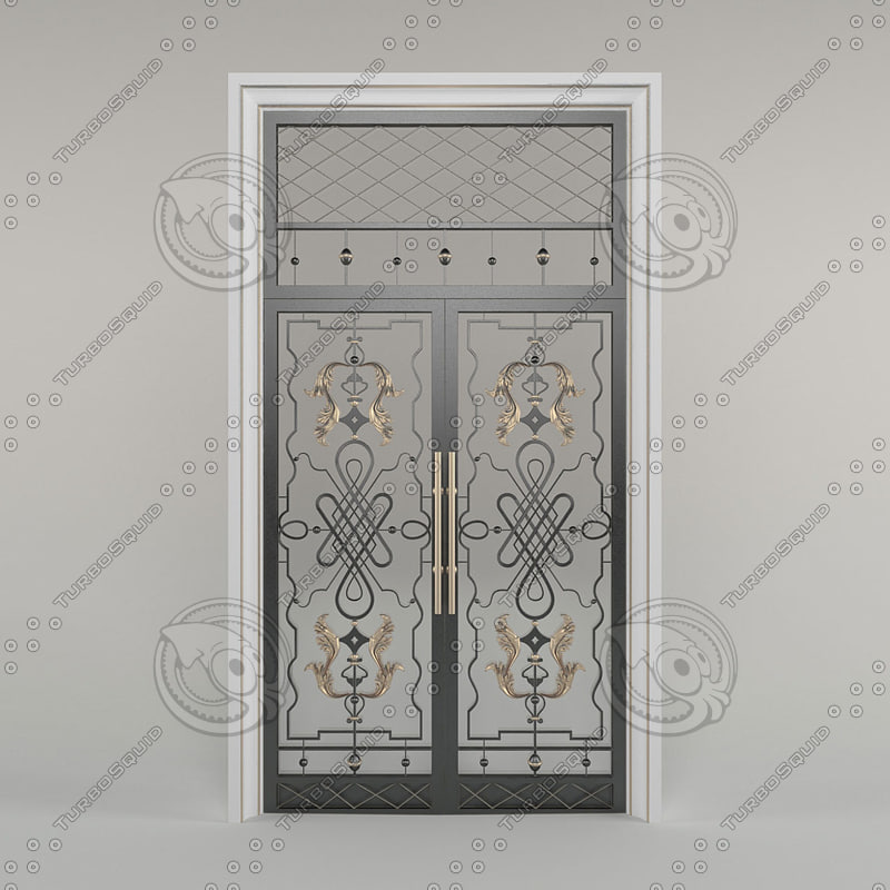 3d iron entrance door