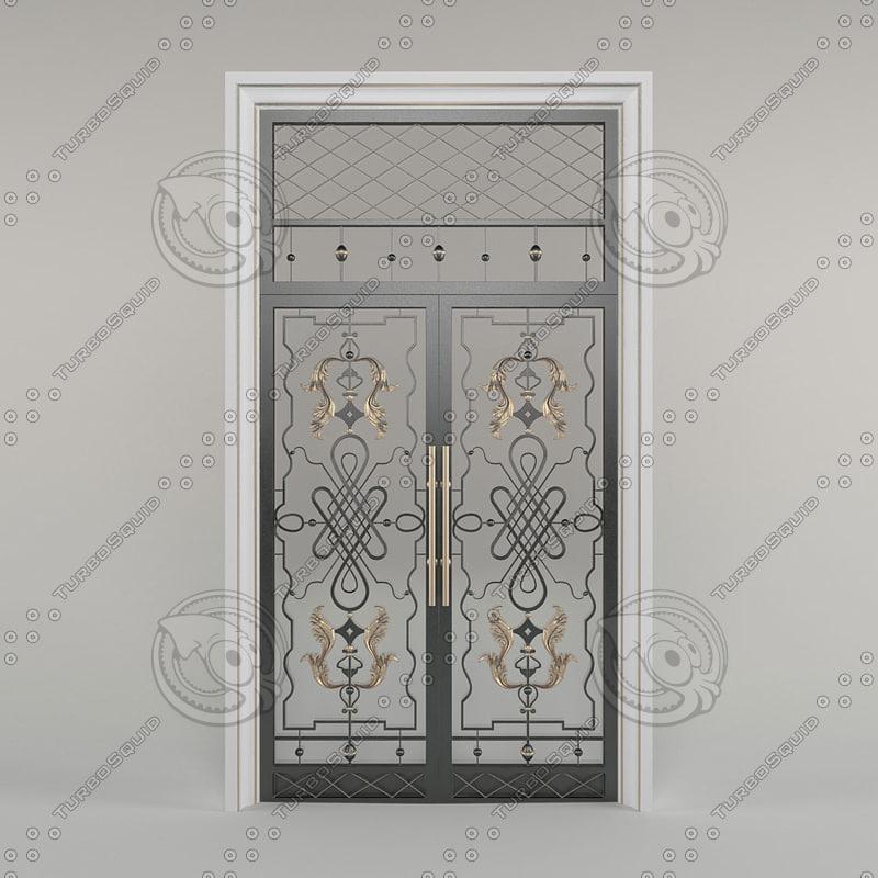 3d iron entrance door