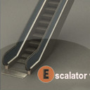 3d model of escalator anim