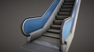 3d model of escalator anim