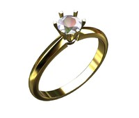 Solitaire 0.5ct engagement ring