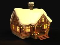 christmas house 3d max
