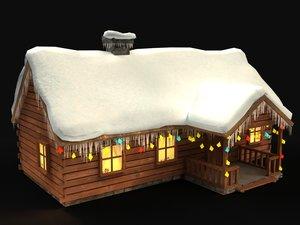 3d model christmas house