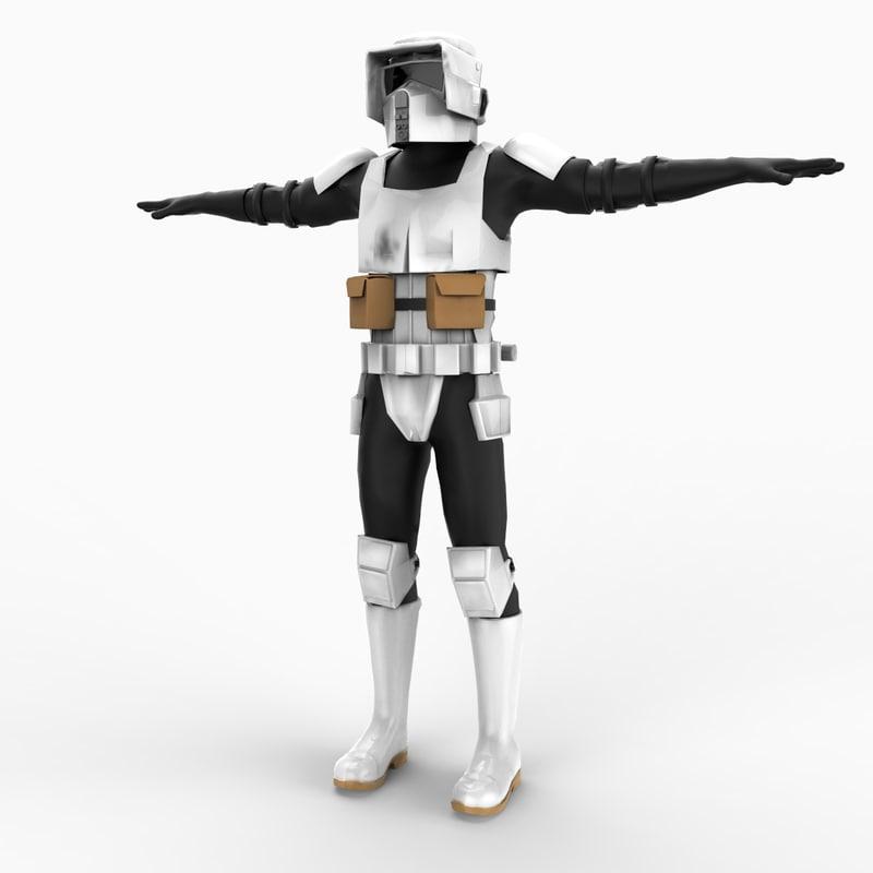 3d model scout trooper