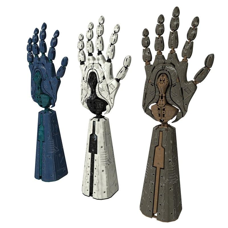3d model robot hand bot