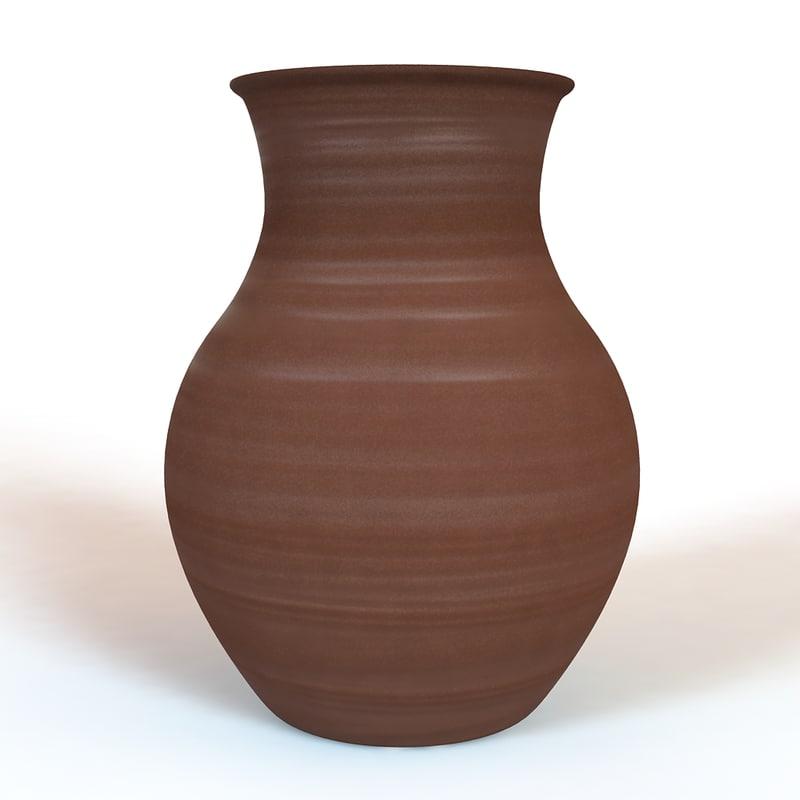 3d clay jug