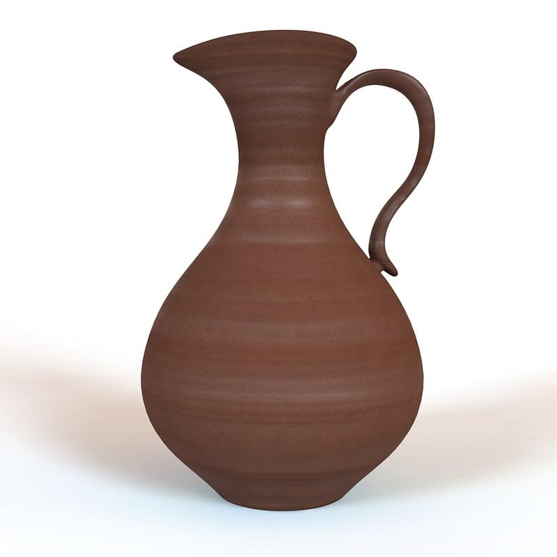 clay jug 3d model