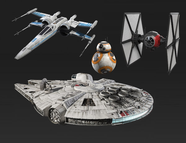 3d model of star wars new 2