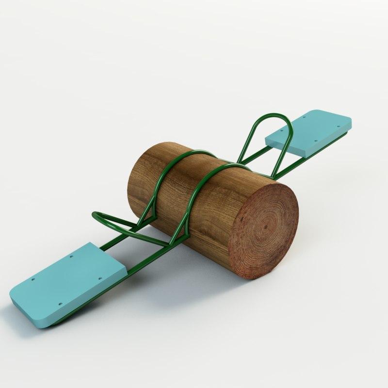 wood toy park 3d max