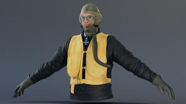 german pilot obj