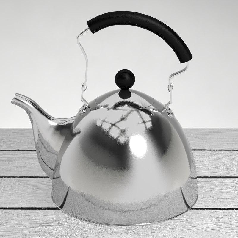 classic kettle 3d max