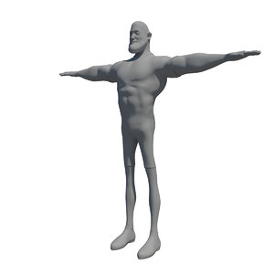 3d model cartoon athlete