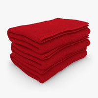 3d towel fold red model