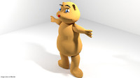 3d model cartoon toon bear
