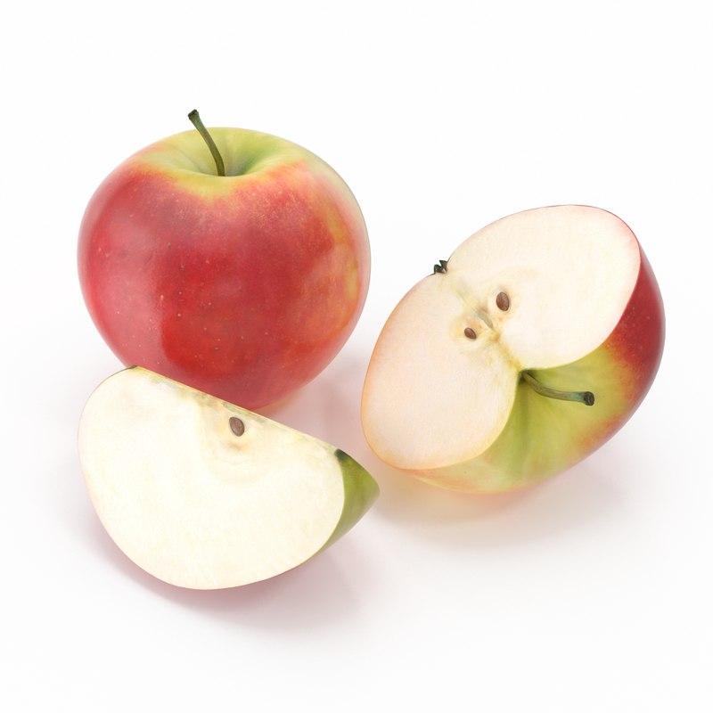 apple photorealistic 3d 3ds