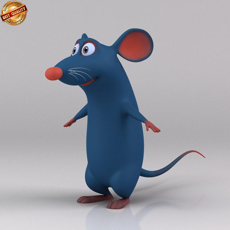 3d rat cartoon toon