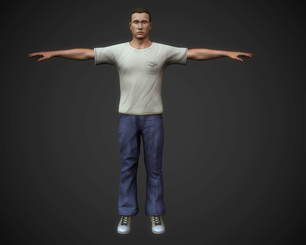 character rigged 3d max