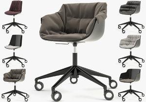3d model chair flow slim