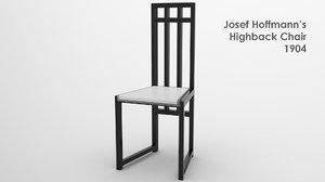 3d model highback chair hoffmann