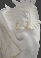 Winged nude female sculpture