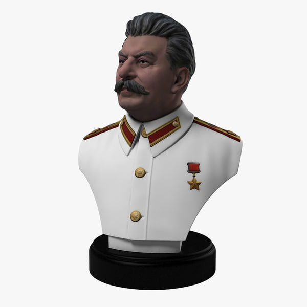 3dsmax color bust stalin