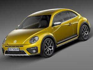 2016 volkswagen beetle 3d model