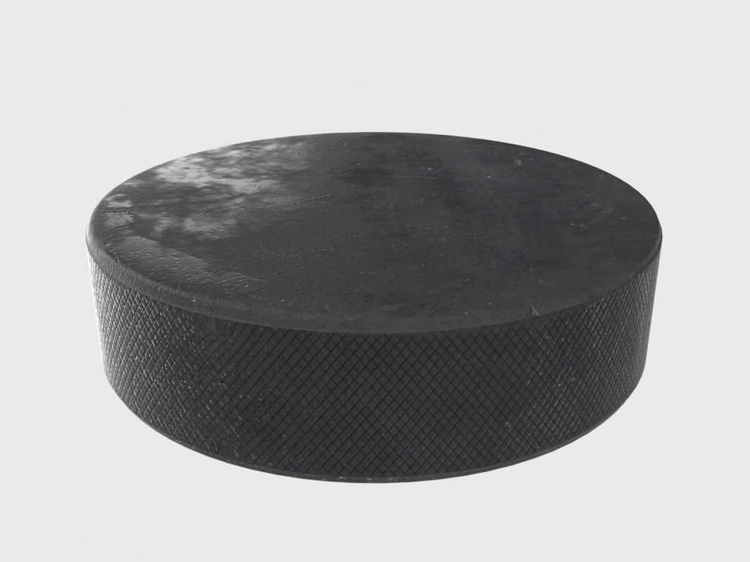 hockey puck 3d obj