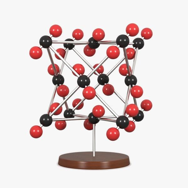 3d molecular carbon dioxide model