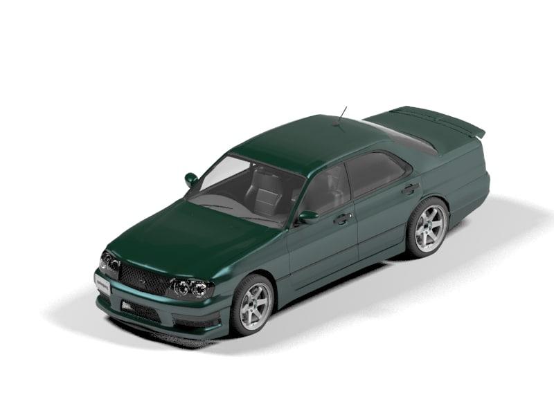 nissan cedric 3d model