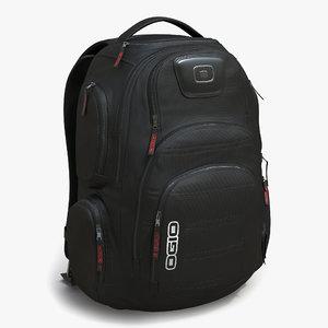 backpack 3 modeled 3d max