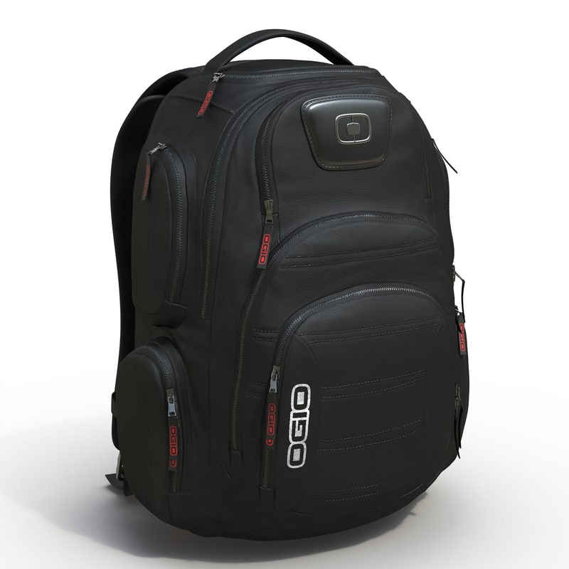 backpack 3 modeled 3d max